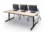 "Blow-Molded Adjustable Height Computer Table 30"" x 72"" - Correll Office Furniture -"