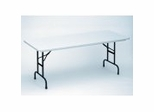 "Blow Molded Adjustable Height Folding Table 24"" x 48"" - Correll Office Furniture - RA2448"