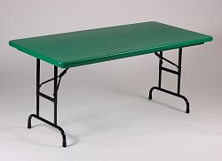 "Blow-Molded Adjustable Height Folding Table 30"" x 60"" - Correll Office Furniture - RA3060-C"