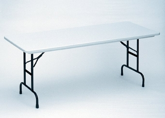 "Blow Molded Adjustable Height Folding Table 30"" x 72"" - Correll Office Furniture - RA3072"