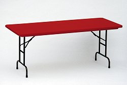 "Blow-Molded Adjustable Height Folding Table 30"" x 72"" - Correll Office Furniture - RA3072-C"