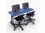 "Blow-Molded Desk Height Computer Table 24"" x 48"" - Correll Office Furniture -"