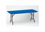 "Blow-Molded Fixed Height Folding Table 30"" x 60"" - Correll Office Furniture - R3060-C"