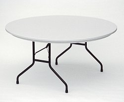 "Blow Molded Fixed Height Folding Table 60"" Round - Correll Office Furniture - R60"
