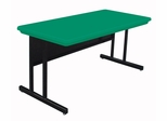 "Blow-Molded Keyboard Height Computer Table 24"" x 48"" - Correll Office Furniture -"