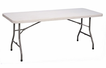 "Blow-Molded Plastic Folding Table 30"" x 96"" - Correll Office Furniture - CP3096"