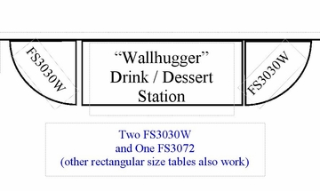 "Blow Molded ""Wallhugger"" Drink / Dessert Station Set-up - Correll Furniture - FS-SET-2"