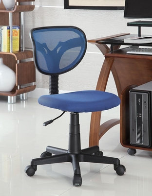 Blue Mesh Adjustable Height Task Chair - 800055B