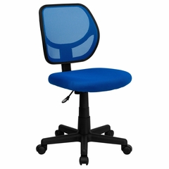 Blue Mesh Computer Chair - WA-3074-BL-GG