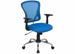 Blue Mesh Executive Office Chair - H-8369F-BL-GG