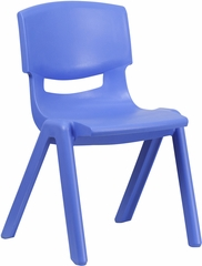 Blue Plastic Stackable School Chair - YU-YCX-005-BLUE-GG
