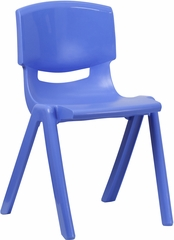 Blue Plastic Stackable School Chair- YU-YCX-007-BLUE-GG