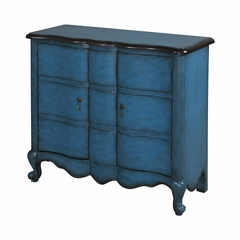Blue Scalloped 2 Door Chest - Powell Furniture - POWELL-241-697