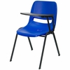 Blue Tablet Arm Chair Desk with Left Side Tablet - RUT-EO1-BL-LTAB-GG
