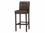 "Bonded Leather Tufted Bar Stool 30"" - Linon Furniture - 0228VESP-01-KD-U"