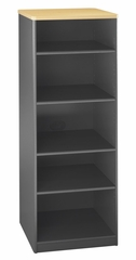 "Bookcase - 19.5"" Deep - 5 shelf - Series A Beech Collection - Bush Office Furniture - WC14368"