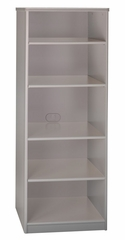 "Bookcase - 19.5"" Deep - 5 shelf - Series A Pewter Collection - Bush Office Furniture - WC14568"