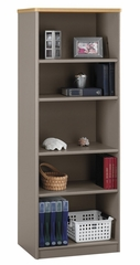 Bookcase-5 Shelf - Series A Light Oak Collection - Bush Office Furniture - WC64365