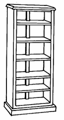 Bookcase DMI - 72 Inch Bookcase - Traditional Office Furniture - 7350-172