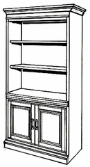 Bookcase DMI - Bookcase - Traditional Office Furniture - 7990-09