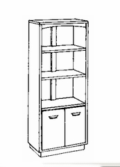 Bookcase DMI - Bookcase - Transitional Office Furniture - 7210-09