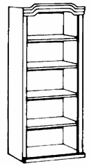 Bookcase DMI - Governor's Bookcase Package