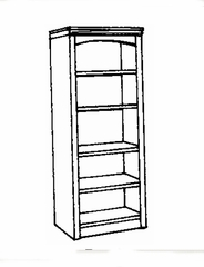 Bookcase DMI - Open Bookcase - Transitional Office Furniture - 7210-08