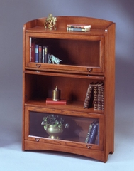 Bookcase DMI - Three Door Barrister Bookcase - Mission Oak Executive Office Furniture / Home Office Furniture - 7661-04