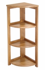 Bookcase - Flip-Flop 3 Shelf Folding Corner Bookcase - HBCFC3412