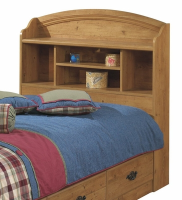 Bookcase Headboard in Country Pine - South Shore Furniture - 3232098