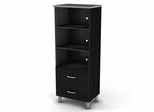 Bookcase in Black/Onyx and Charcoal - Cosmos - South Shore Furniture - 3127652