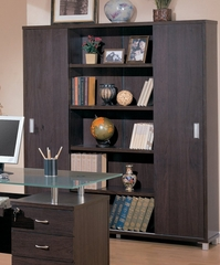 Bookcase in Cappuccino - Coaster - COAST-18002031