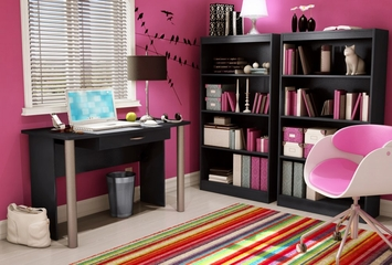 Bookcase in Solid Black - South Shore Furniture - 7270767
