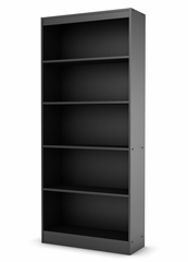 Bookcase in Solid Black - South Shore Furniture - 7270768