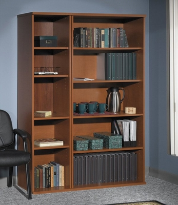 Bookcase Set - Series C Auburn Maple Collection - Bush Office Furniture - WC48512-14