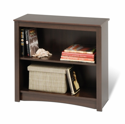 Bookcase with 2 Shelves in Espresso - Prepac Furniture - EDL-3229