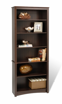 Bookcase with 6 Shelves in Espresso - Prepac Furniture - EDL-3277