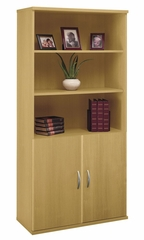 Bookcase with Door Pack Set - Series C Light Oak Collection - Bush Office Furniture - WC60314-11