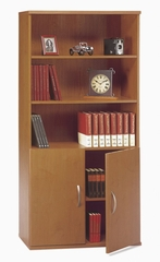 Bookcase with Door Pack Set - Series C Natural Cherry Collection - Bush Office Furniture - WC72411-14