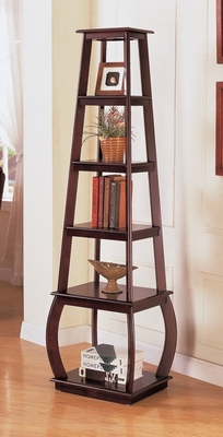 Bookcase with Five Shelves in Cappuccino - Coaster