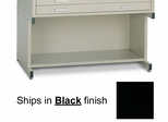 Bookshelf base for 30 Inch x 42 Inch File in Black - Mayline Office Furniture - 7878S5
