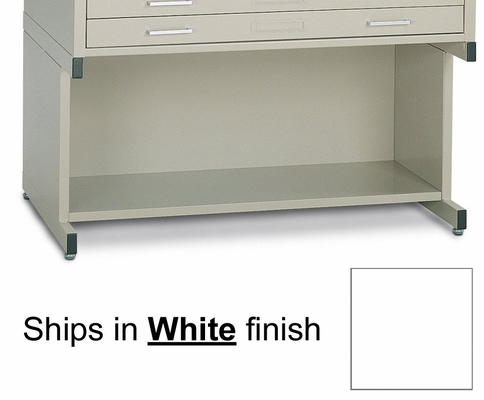 Bookshelf base for 30 Inch x 42 Inch File in White - Mayline Office Furniture - 7878G5
