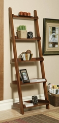 Bookshelf in Warm Rich Mahogany - Coaster
