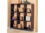 Bookshelf Wall Unit in Cappuccino - Coaster