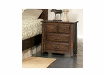 Boone 2 Drawer Nightstand Distressed Dark Oak - Largo - LARGO-ST-B1035-40