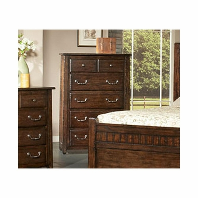 Boone 5 Drawer Chest Distressed Dark Oak - Largo - LARGO-ST-B1035-30