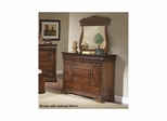 Bordeaux 5 Drawer 2 Door Bureau Brown Cherry - Largo - LARGO-ST-B4300-11