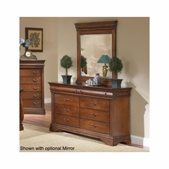 Bordeaux 6 Drawer Dresser Brown Cherry - Largo - LARGO-ST-B4300-10