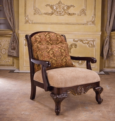 Bordeaux Chair with Wood Design - Bordeaux - 05602