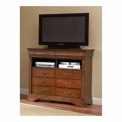 Bordeaux HD Media Chest Brown Cherry - Largo - LARGO-ST-B4300-28